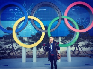 Julia Allain in Pyeongchange for the 2018 Winter Olympic Games